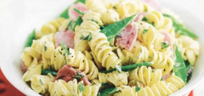 mint and ham fusilli