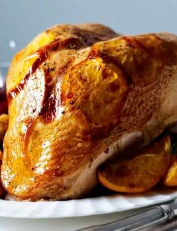 turkey crown with orange