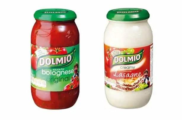 Dolmio lasagne sauces