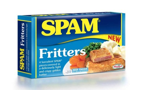 SPAM fritters boxed