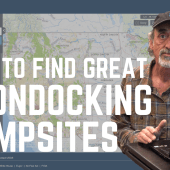 Ep. 181: How to Find Great Boondocking Campsites | RV travel camping DIY