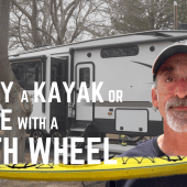 Ep. 190: How to Carry a Kayak or Canoe with a Fifth Wheel | RV travel camping kayaking RVlife