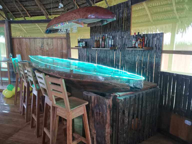 Canoe Bar at Grand Amazon Lodge and Tours near Iqutos