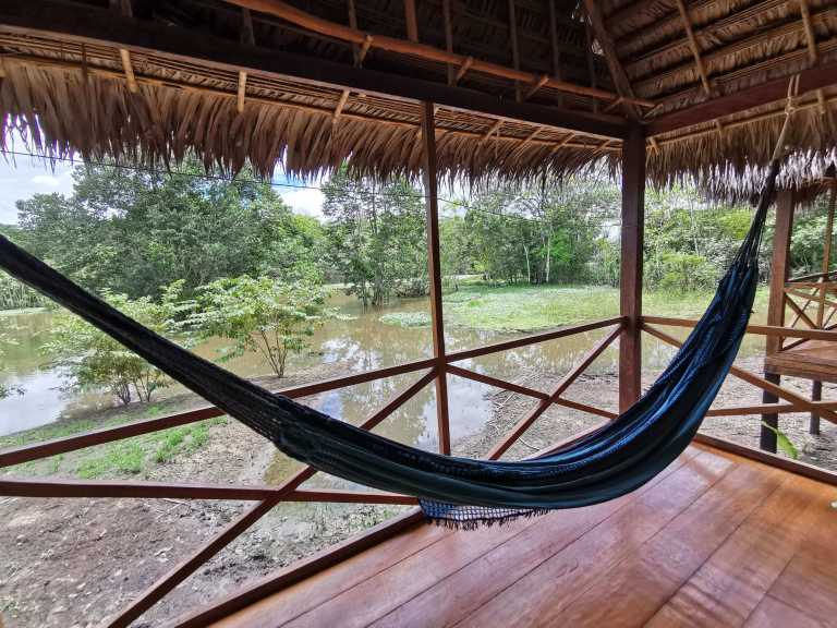 Balcony With River Front View Stay at Grand Amazon Lodge