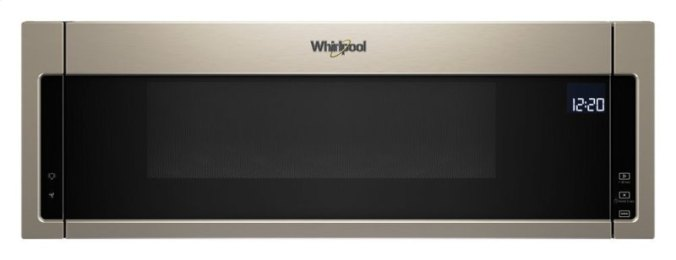 Whirlpool WML75011HN low-profile over-the-range microwave in sunset bronze