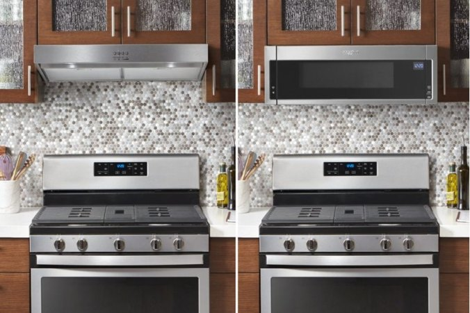Whirlpool low profile over-the-range microwave vs hood