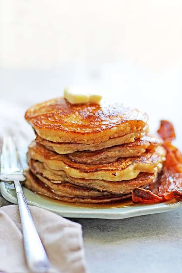 Best Classic Pancakes Recipe 4 - Brown Sugar Pancakes with Bacon Maple Butter