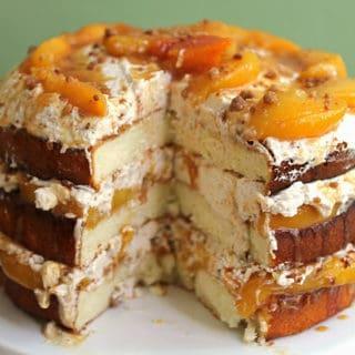 peach cobbler cake 2 320x320 - Peach Cobbler Shortcake Cake