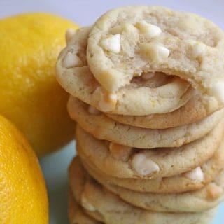 lemon white chocolate chip cookies 3 320x320 - Lemon White Chocolate Chip Cookies