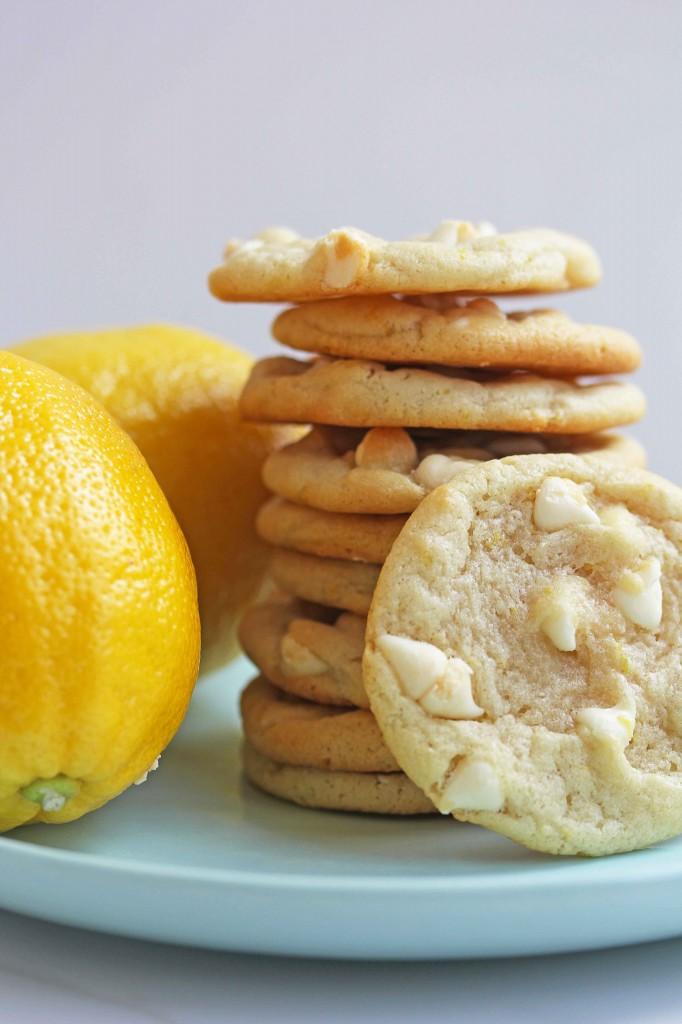 lemon white chocolate chip cookies 4 682x1024 - Lemon White Chocolate Chip Cookies