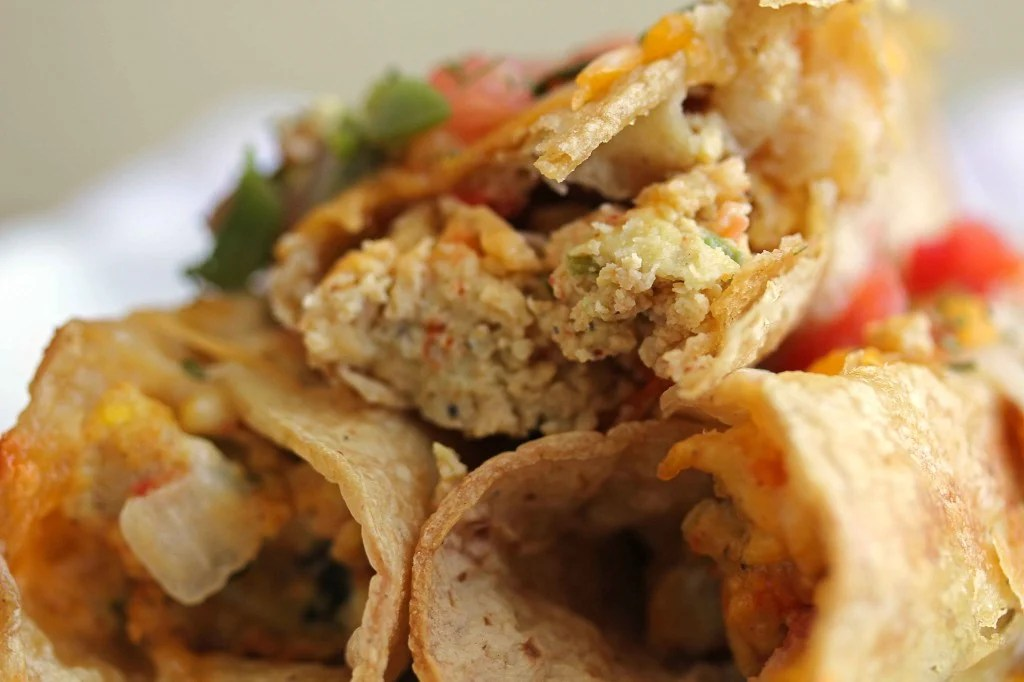 meatless flauta 4 1024x682 - Mexican Breakfast Flautas