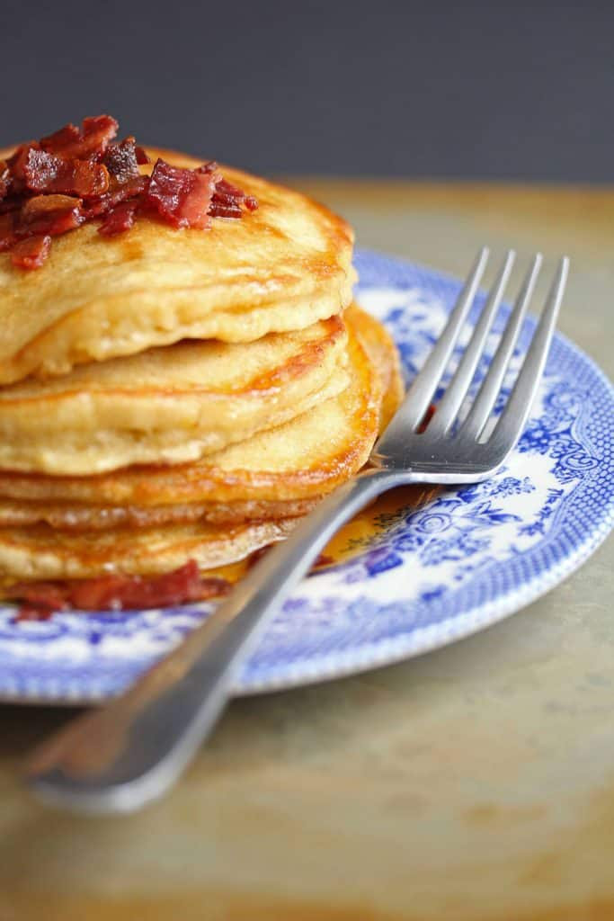 brown sugar pancakes 1 683x1024 - Brown Sugar Pancakes with Bacon Maple Butter