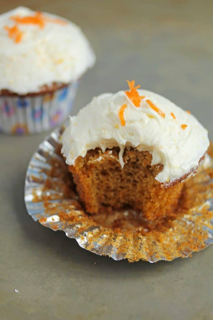 smp orange carrot cupcake5 683x1024 - Orange Carrot Cupcakes