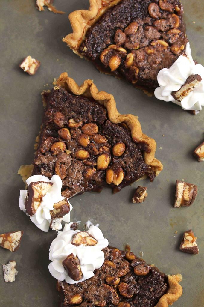 candy bar fudge pie 2 1small 682x1024 - Candy Bar Fudge Pie