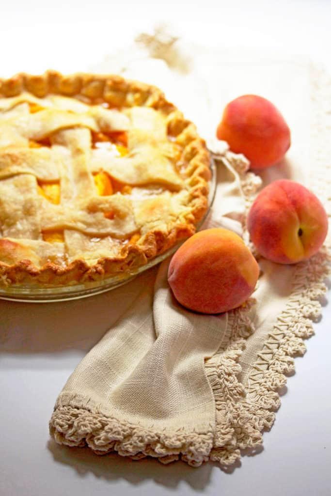 Fresh peach pie 2 683x1024 - Fresh Peach Pie Recipe