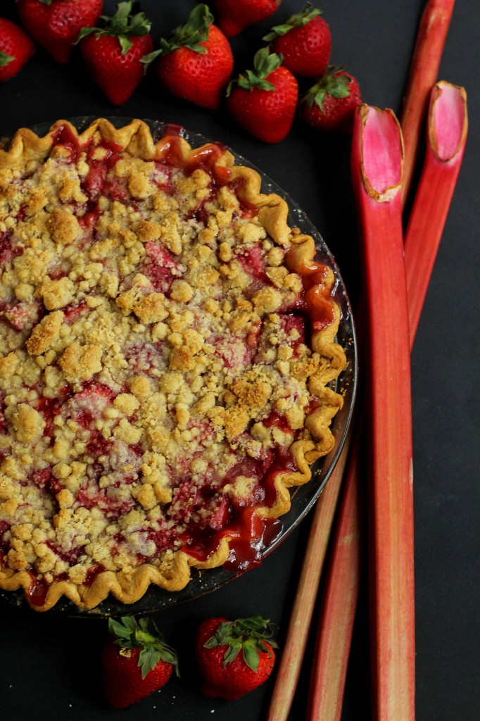 bhg strawberry rhubarb crumble pie 5 682x1024 - Strawberry Rhubarb Crumble Pie