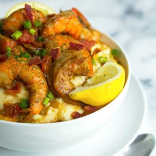 shrimp and grits1 320x320 - New Orleans BBQ Shrimp and Grits Recipe