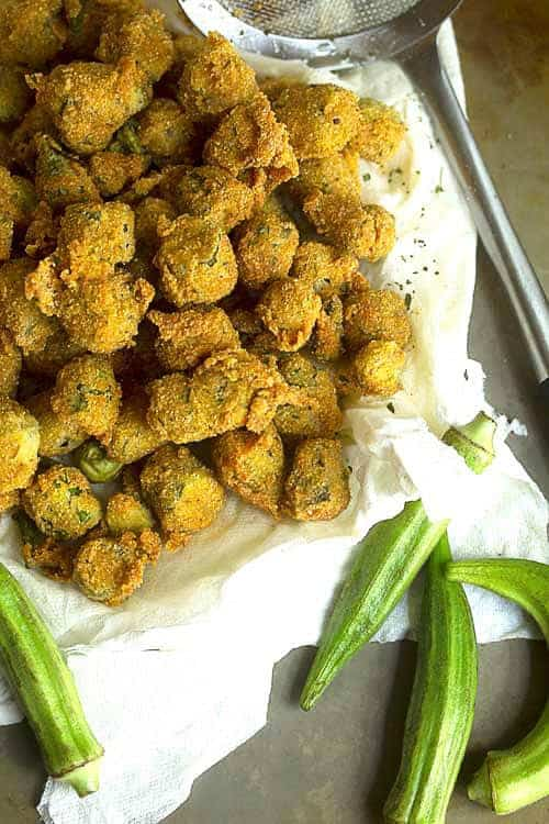 southern pan fried okra recipe 1 - Fried Okra Recipe - A Southern Classic Done Right!