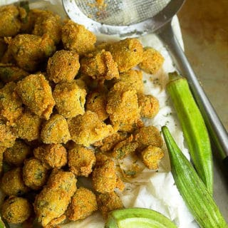 Southern Pan Fried Okra Recipe | Grandbaby Cakes