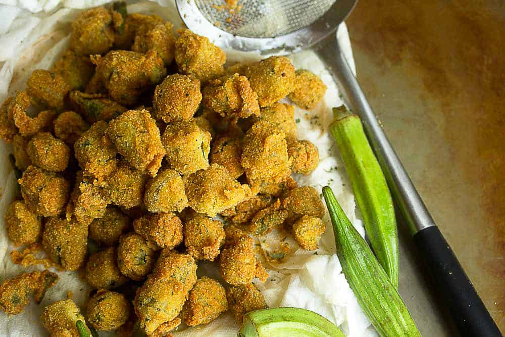 southern pan fried okra recipe 3 - Fried Okra Recipe - A Southern Classic Done Right!