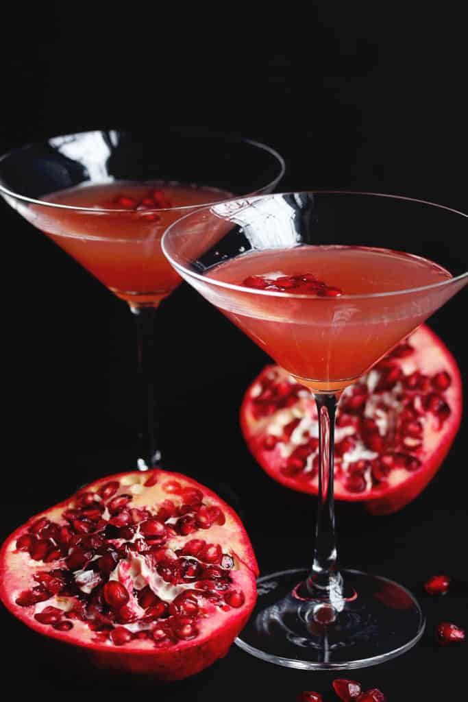 pomegranate champagne cocktail 1 copy 683x1024 - Pomegranate Orange Champagne Cocktail