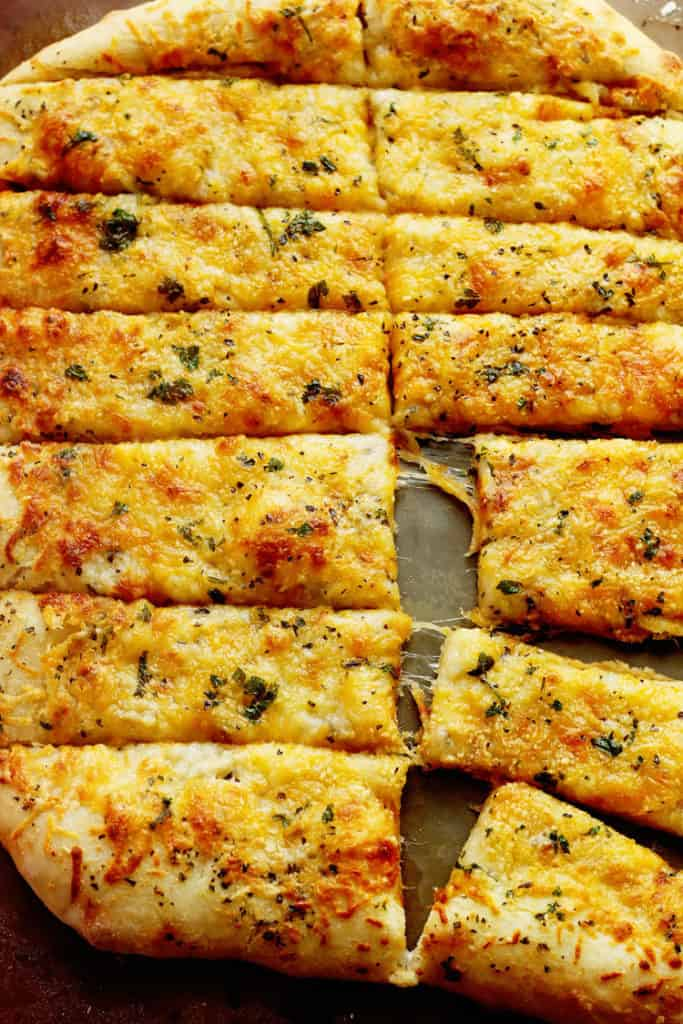 Garlic Cheese Breadsticks 1 683x1024 - Garlic Cheese Breadsticks Recipe (With How To Video)