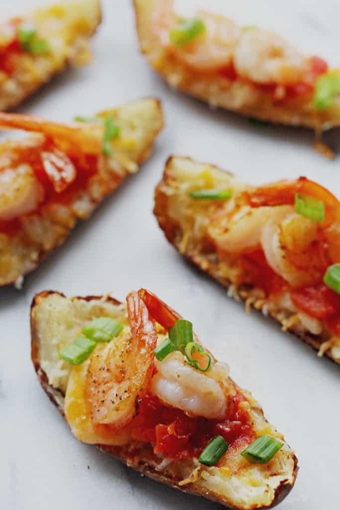 Shrimp Nacho Potato Skins 3 683x1024 - Shrimp Nacho Potato Skins