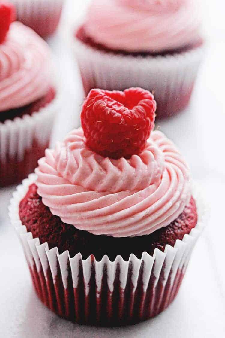 Red Velvet Raspberry Cupcakes 3 - Red Velvet Cupcakes