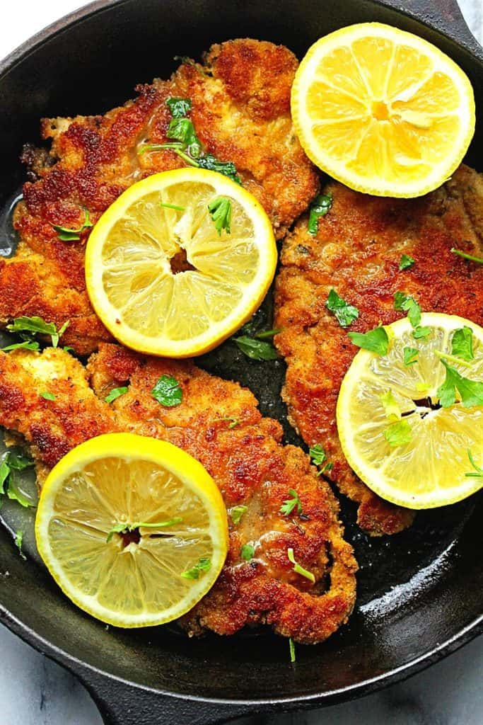 breaded chicken piccata 2 683x1024 - Lemon Chicken Piccata Recipe