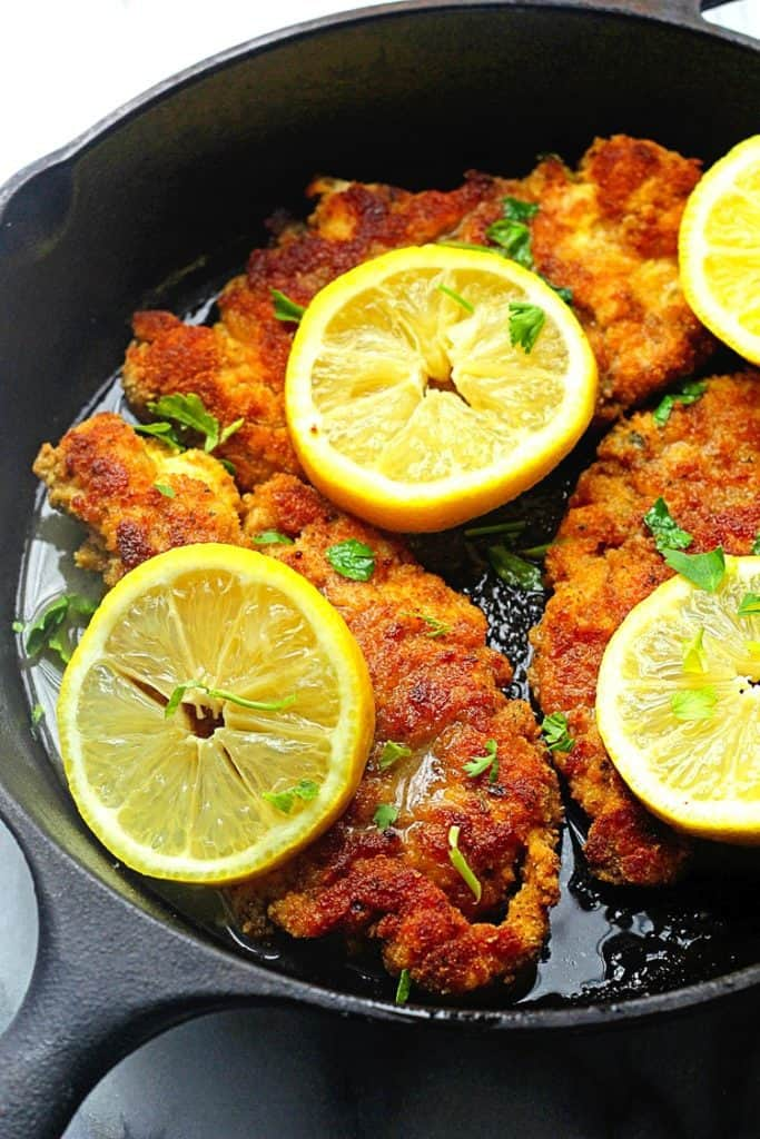 breaded chicken piccata 3 683x1024 - Lemon Chicken Piccata Recipe