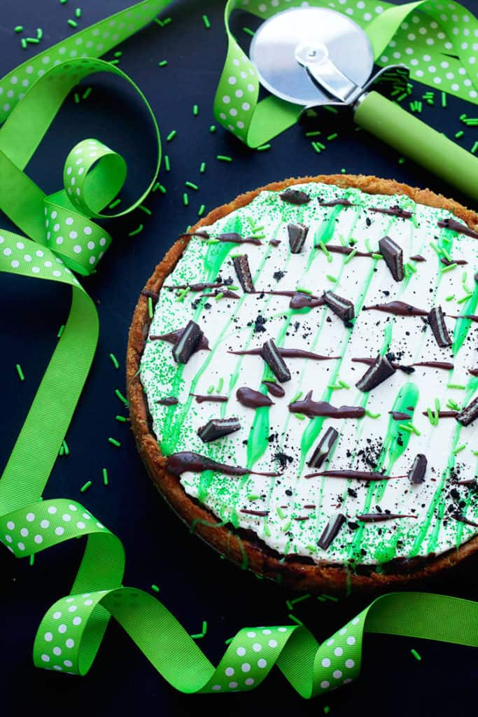 baileys st. patricks day dessert pizza 3 683x1024 - St. Patrick's Day Dessert Pizza
