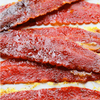Brown Sugar Baked Turkey Bacon