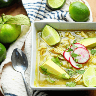 Mexican Chicken Pozole Verde 320x320 - Mexican Chicken Pozole Recipe (Pozole Verde)! Authentic!