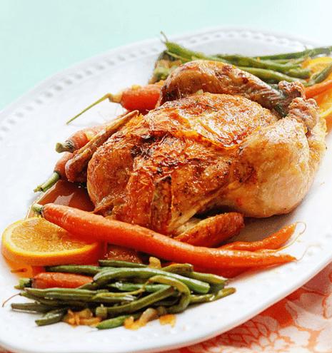 Orange Honey Roast Chicken - The Ultimate Easter Menu!