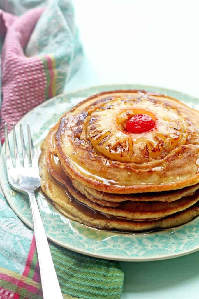 Pineapple Upside Down Pancakes 1 683x1024 - Pineapple Upside Down Pancakes Recipe