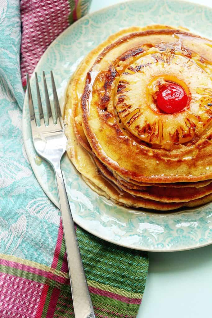 Pineapple Upside Down Pancakes 3 683x1024 - Pineapple Upside Down Pancakes Recipe