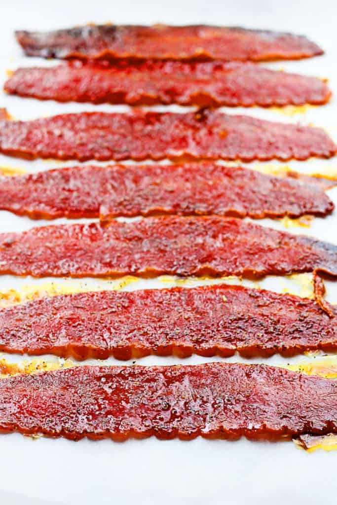 brown sugar baked turkey bacon 1 683x1024 - Brown Sugar Baked Turkey Bacon