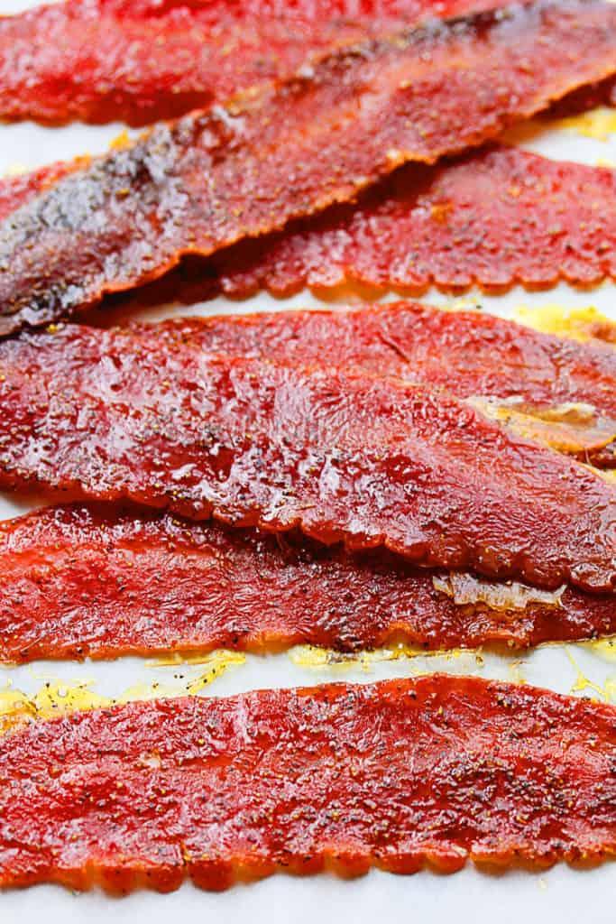 brown sugar baked turkey bacon 2 683x1024 - Brown Sugar Baked Turkey Bacon