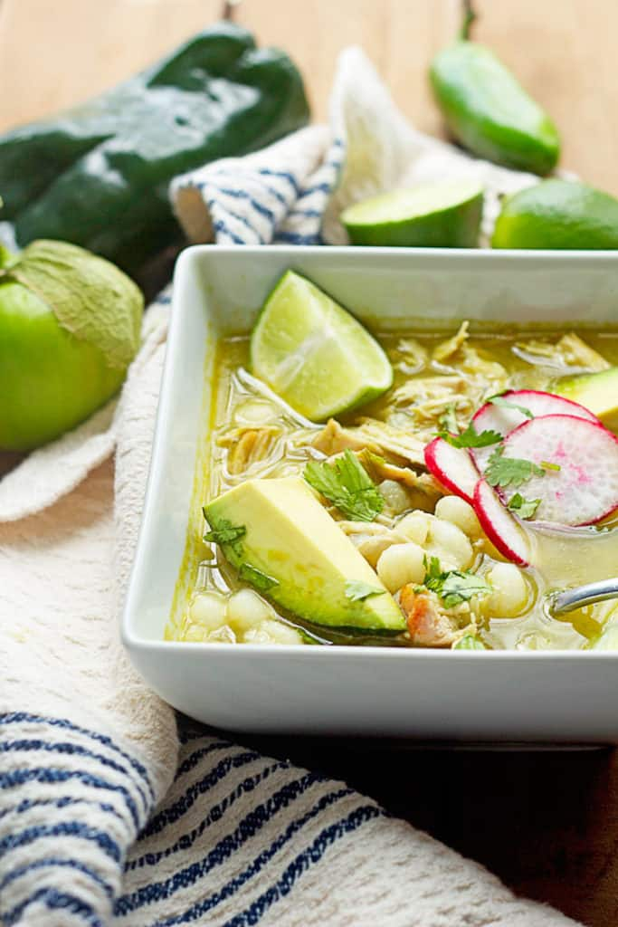 chicken pozole verde 3 683x1024 - Mexican Chicken Pozole Recipe (Pozole Verde)! Authentic!