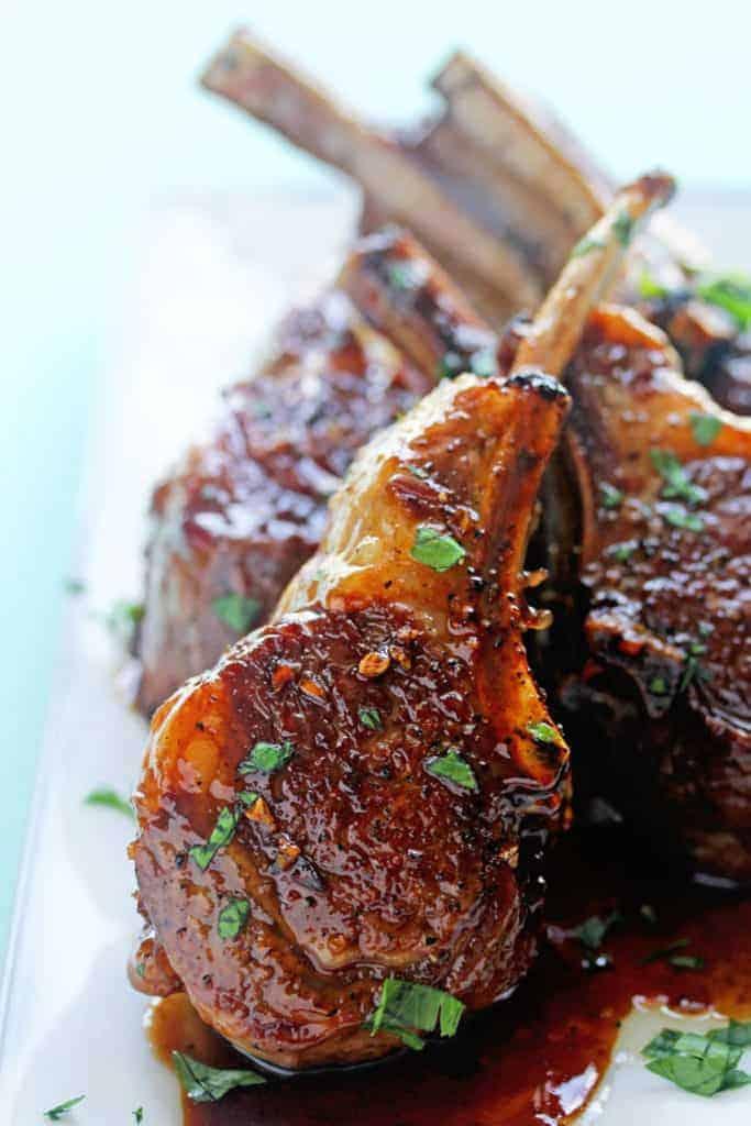 Balsamic Brown Sugar Lamb Chops 3 683x1024 - Balsamic Brown Sugar Lamb Chops Recipe