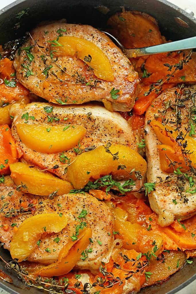 Maple Peach Pork Chops 4 683x1024 - Maple Peach Pork Chops