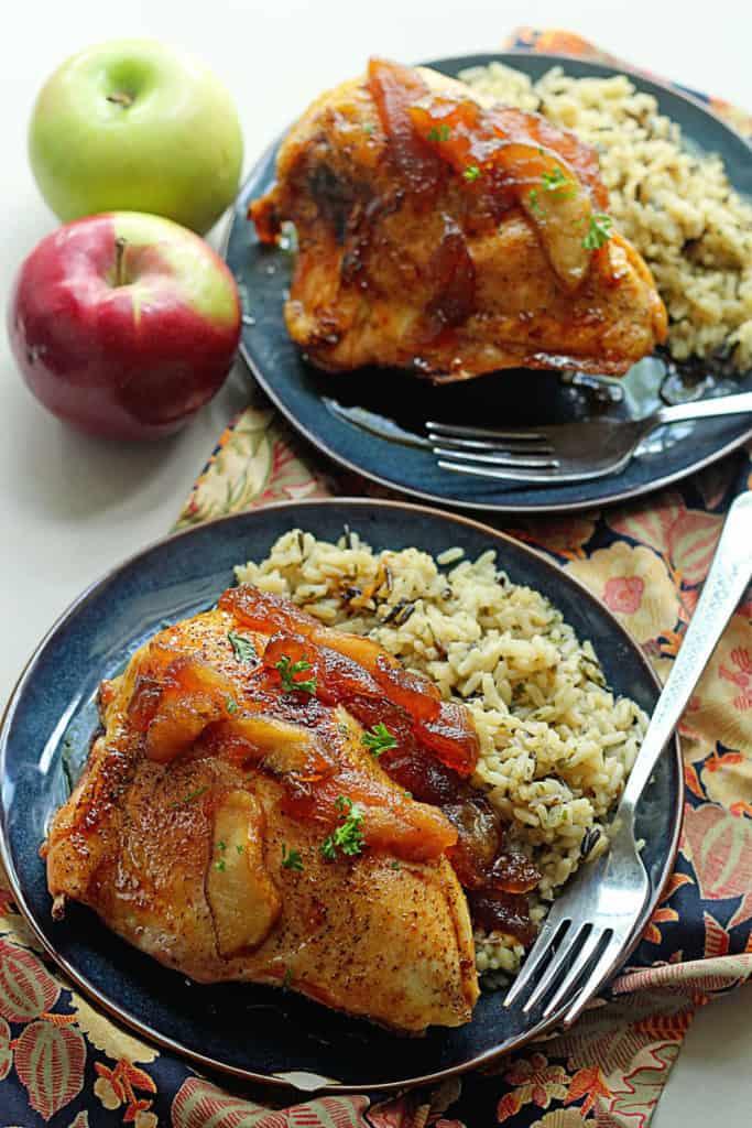 Apple Cider Glazed Chicken 3 683x1024 - Apple Cider Glazed Chicken