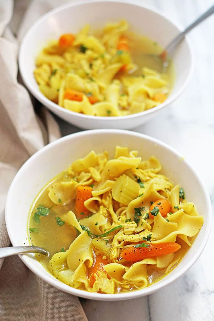 Slow Cooker Chicken Noodle Soup 1 683x1024 - Slow Cooker Chicken Noodle Soup