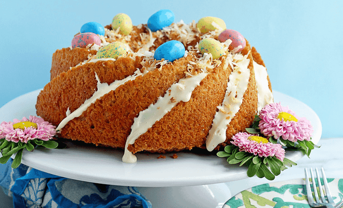 Easy Carrot Cake Pound Cake Recipe Featured image - The Ultimate Easter Menu!
