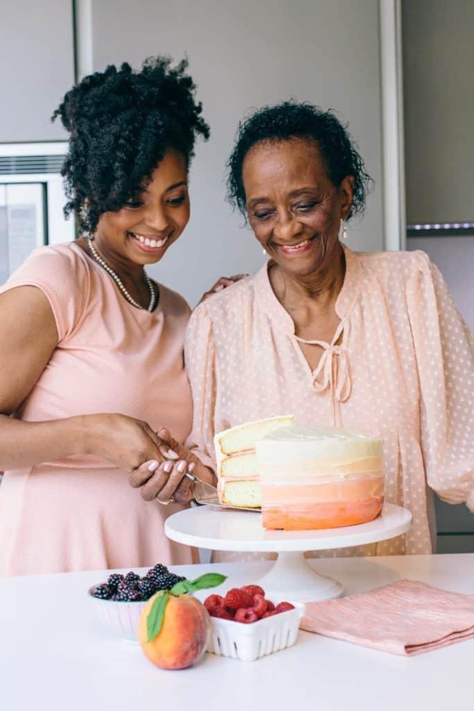 6 peach raspberry Joc and Big Mama 683x1024 - About Jocelyn Delk Adams