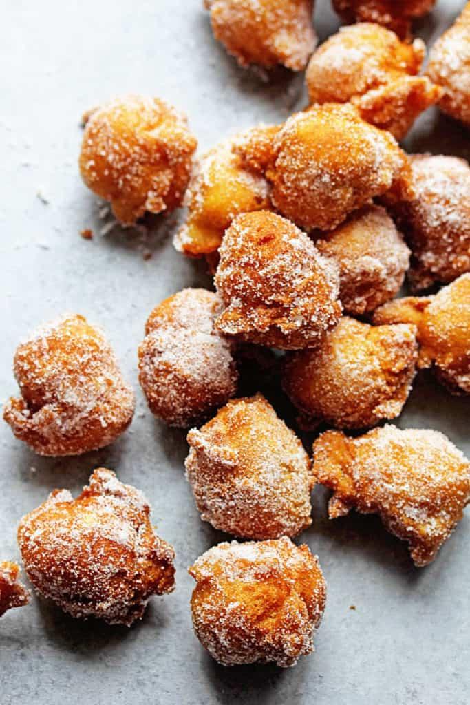 Castagnole Fried Dough Balls 2 683x1024 - The BEST Italian Castagnole (Fried Dough Balls with Sugar)
