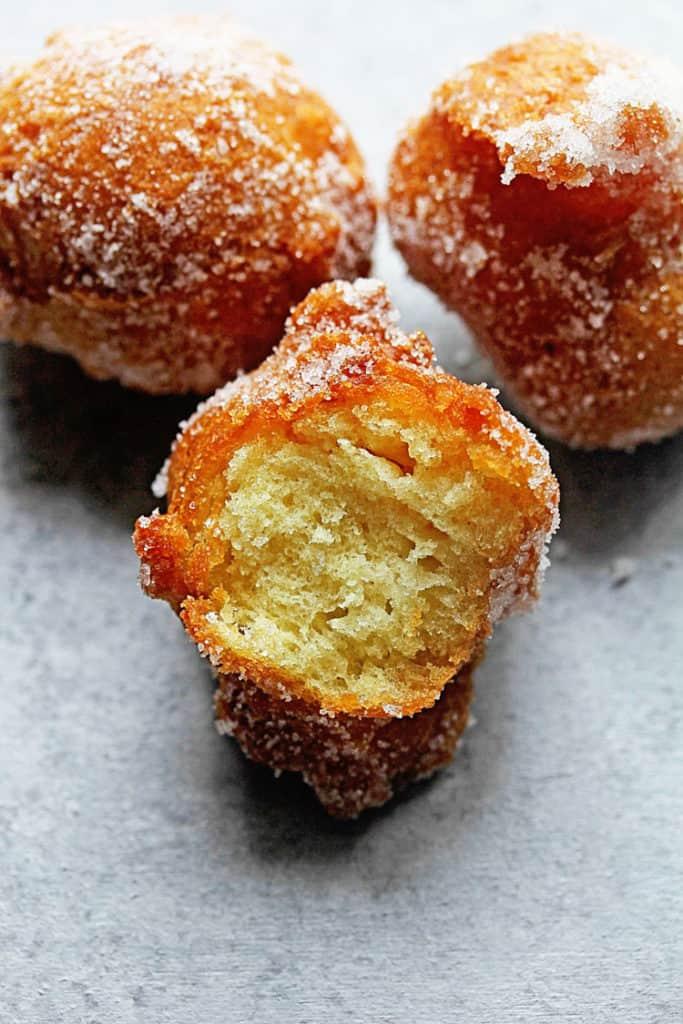 Castagnole Fried Dough Balls 3 683x1024 - The BEST Italian Castagnole (Fried Dough Balls with Sugar)