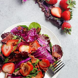 Hot Strawberry Spinach Salad with Bacon 2 320x320 - Hot Strawberry Spinach Salad with Bacon