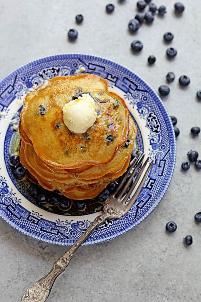 Easy Blueberry Pancakes 4 683x1024 - Blueberry Pancakes Recipe