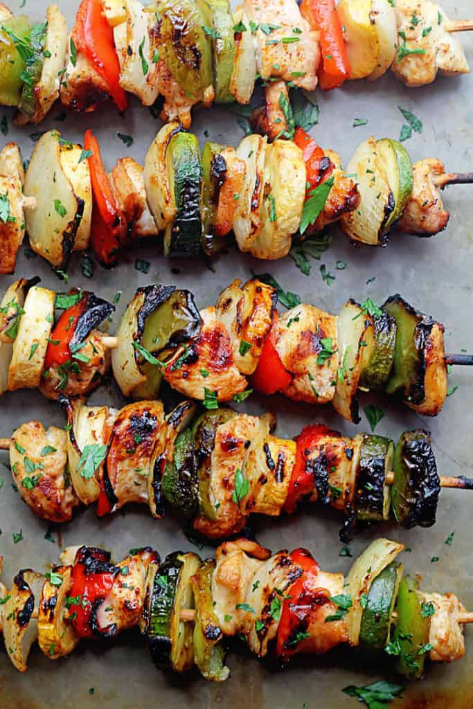 Grilled Apricot Chicken Kabobs 1 683x1024 - Grilled Chicken Kabobs with Apricot Glaze